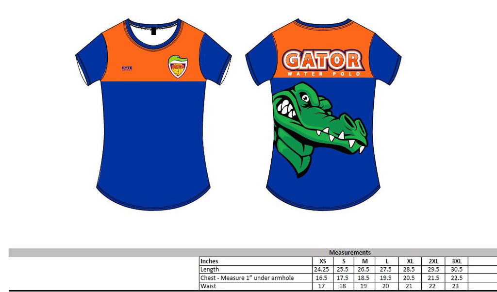 Gator Water Polo Club Women's Crew Neck T-Shirt