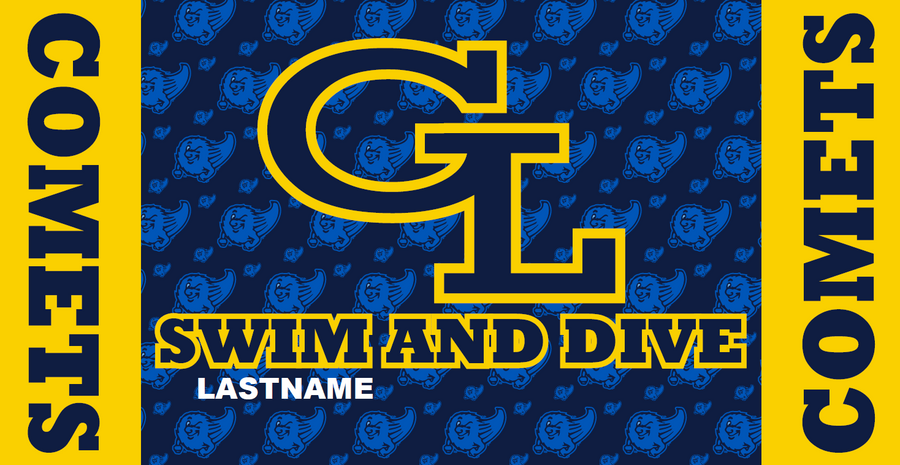 Grand Ledge High School Swim & Dive Team Custom Towel