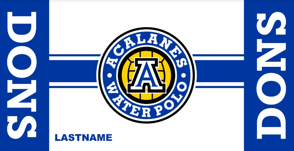 Acalanes High School Water Polo Custom Towel
