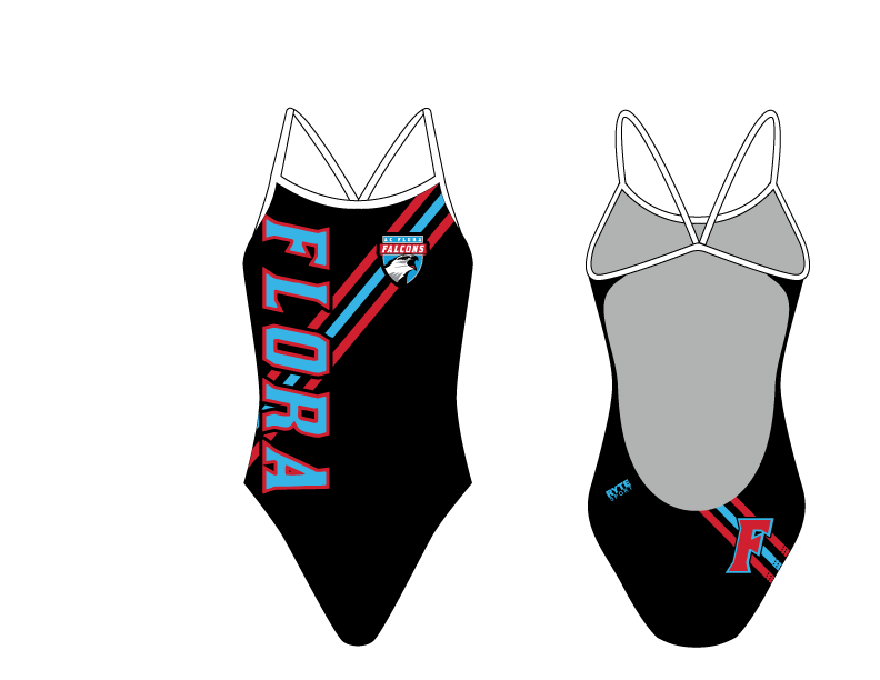 A.C. Flora High School Swim 2019 Custom Women's Open Back Thin Strap Swimsuit