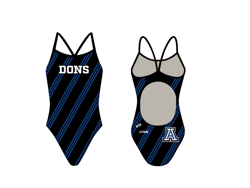 Acalanes High School 2019 Swim & Dive Team Women's Active Back Thin Strap Swimsuit