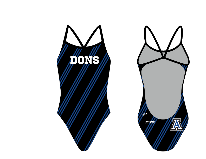 Acalanes High School 2019 Swim & Dive Team Women's Open Back Thin Strap Swimsuit