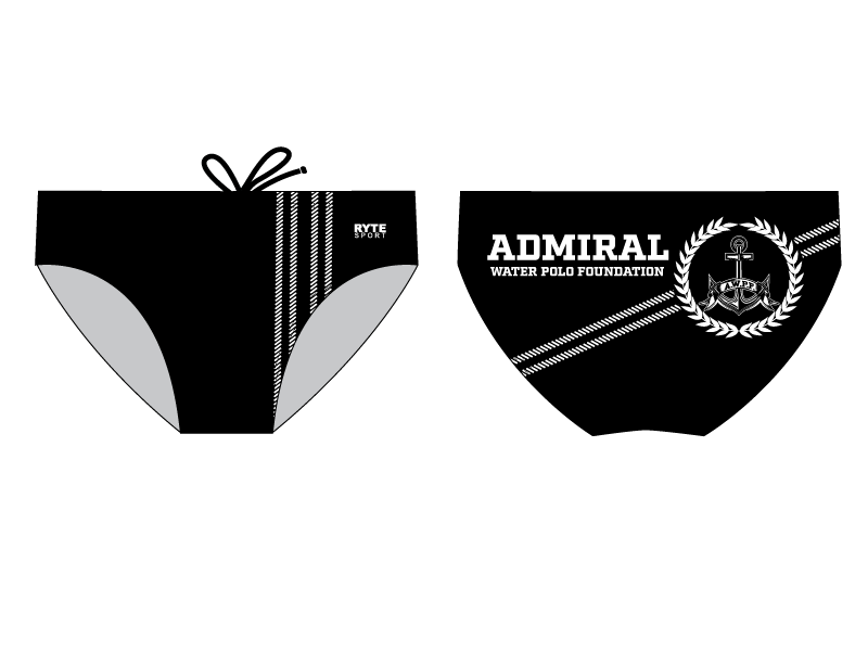 Admiral Water Polo Foundation 2019 Custom Men's Water Polo Brief - Personalized