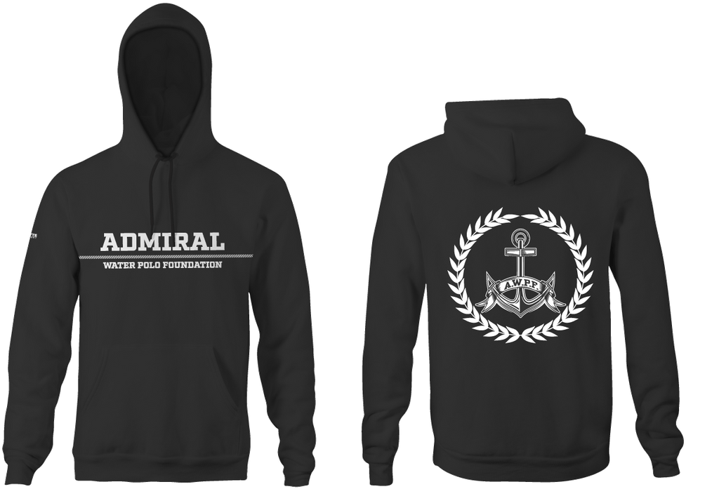 Admiral Water Polo Foundation 2019 Heathered Black Unisex Adult Hooded Sweatshirt - Personalized