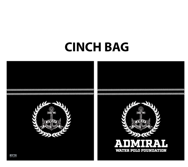 Admiral Water Polo Foundation 2019 Custom Cinch Bag - Personalized