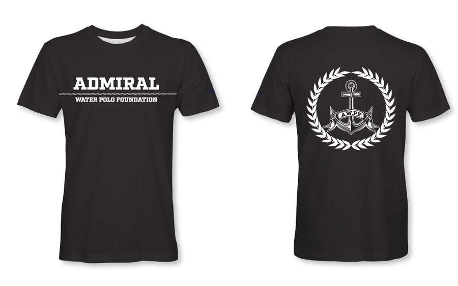 Admiral Water Polo Foundation 2019 Black Custom T-Shirt - Personalized