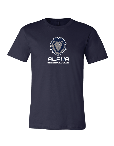 Alpha Water Polo Club Custom Navy Cotton Unisex T-Shirt