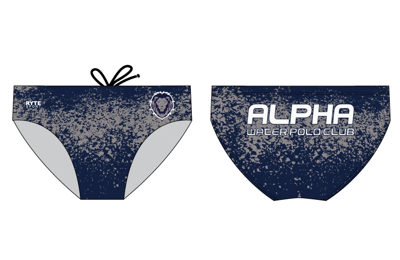 Alpha Water Polo Club Custom Men's Water Polo Brief