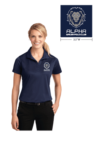 Alpha Water Polo Club Custom Navy Women's Polo Shirt