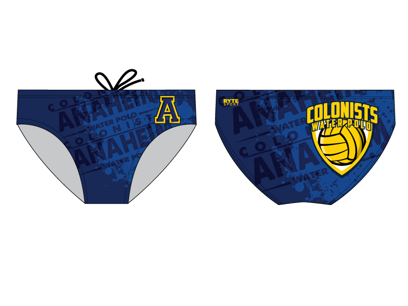 Anaheim High School Water Polo 2020 Custom Men's Water Polo Brief