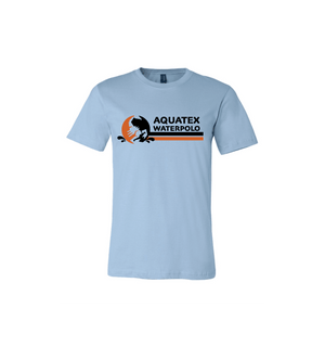 Aquatex Water Polo Custom Blue Cotton Unisex T-Shirt