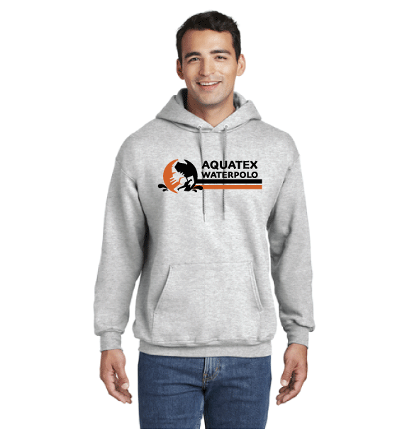 Aquatex Water Polo Custom Ash White Ultimate Cotton Pullover Hooded Sweatshirt