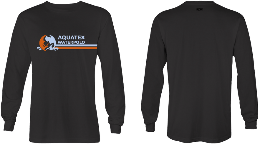 Aquatex Water Polo Custom Black Dri-Fit Long Sleeve T-Shirt