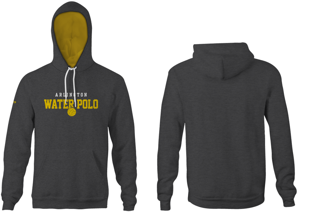 Arlington High School Water Polo 2019 Custom Heathered Grey Unisex Adult Hooded Sweatshirt - Personalized