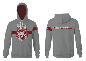 Arlington High School Swim 2021 Custom Vintage Heathered Grey Unisex Adult Hooded Sweatshirt