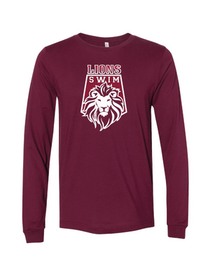 Arlington High School Swim 2021 Custom Maroon Unisex Jersey Long Sleeve Tee