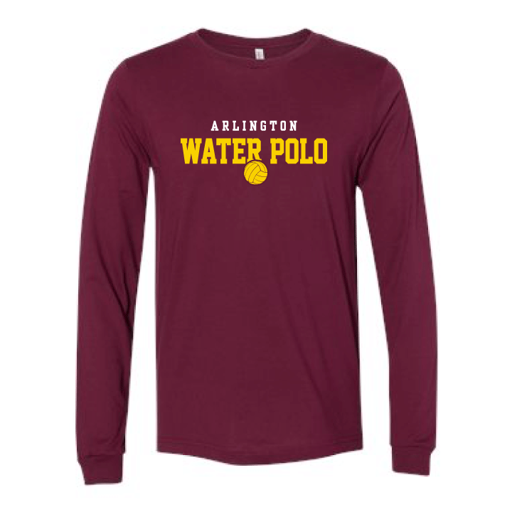 Arlington High School Water Polo 2019 Custom Maroon Long Sleeve