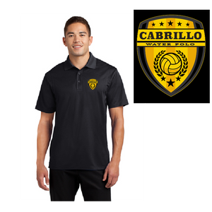 Cabrillo High School Water Polo 2019 Custom Black Men's Polo Shirt *CLOSE DATE TO PURCHASE IS 11/13*