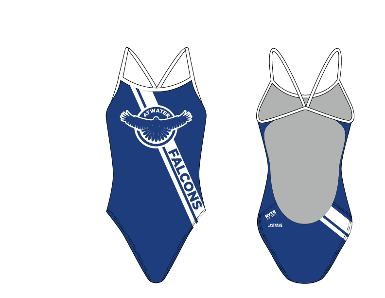 Atwater High School Open Back Thin Strap Swimsuit 2019