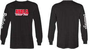 Ayala High School Water Polo 2019 Custom Black Unisex Long Sleeve T-Shirt