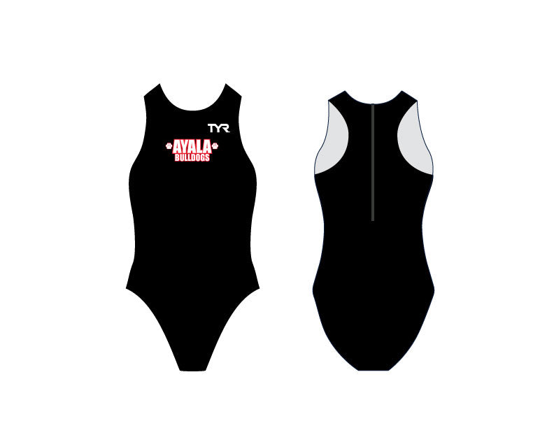 Ayala High School Water Polo 2019 Custom Black TYR Women's Breakaway Water Polo Suit *CLOSE DATE TO PURCHASE IS 11/15*
