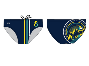 6-8 Sports Training Camp - Colorado Custom Men's Water Polo Brief