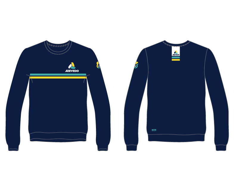 Azevedo Water Polo Navy Unisex Adult Crew-Neck Sweatshirt