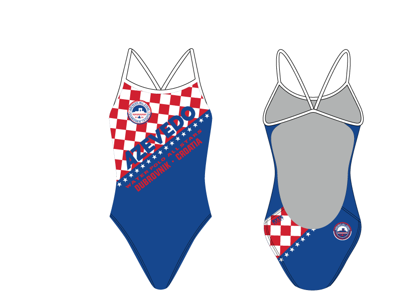 Azevedo Croatia Open Back Thin Strap Swimsuit 2020