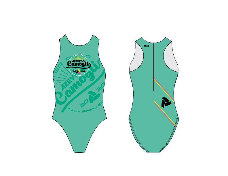 Azevedo Camogli 2020 Training Camp Green Women's Water Polo Suit