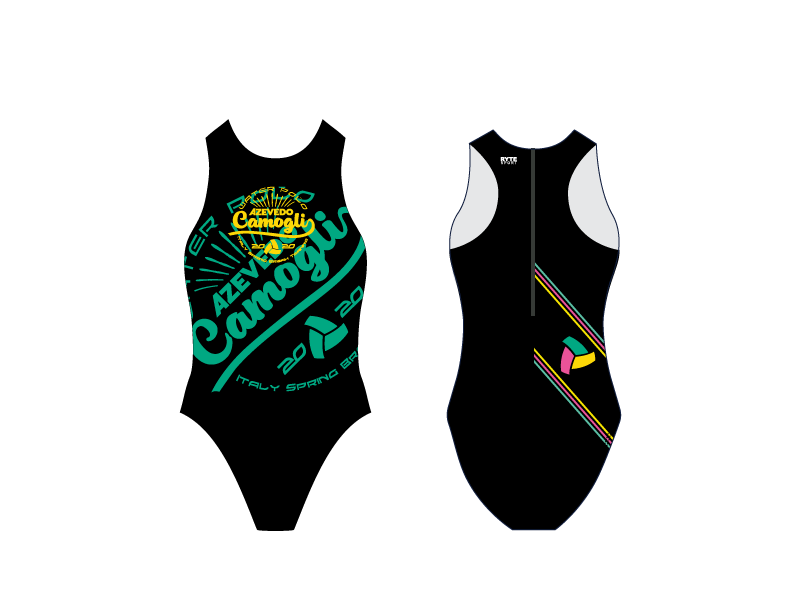 Azevedo Camogli 2020 Training Camp Black Women's Water Polo Suit