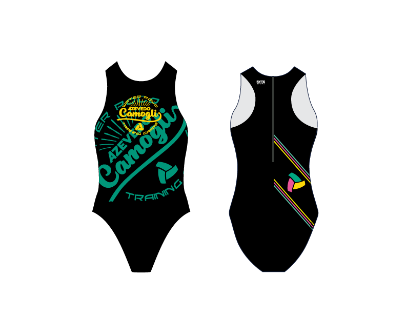 Camogli Training Camp Black Women's Water Polo Suit