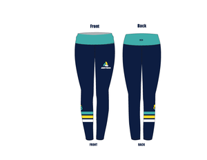 Azevedo Water Polo Navy Mid-Rise Full Length Leggings
