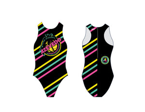 Azevedo Winter Academy Striped Custom Women's Water Polo Suit