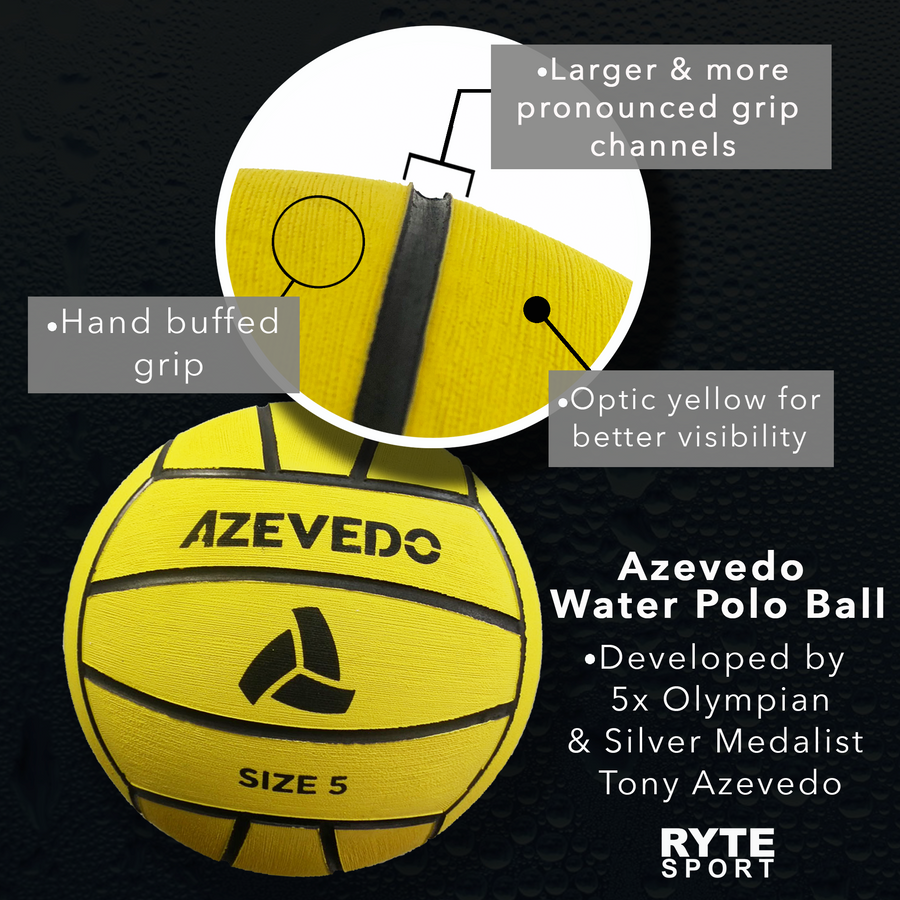 Signed Azevedo Water Polo Ball by Tony Azevedo - Limited Availability