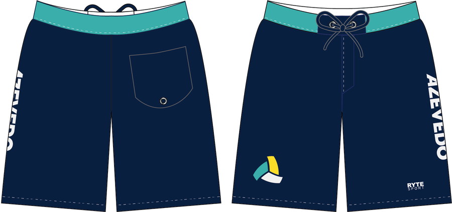 Azevedo Navy Custom Men's Boardshort