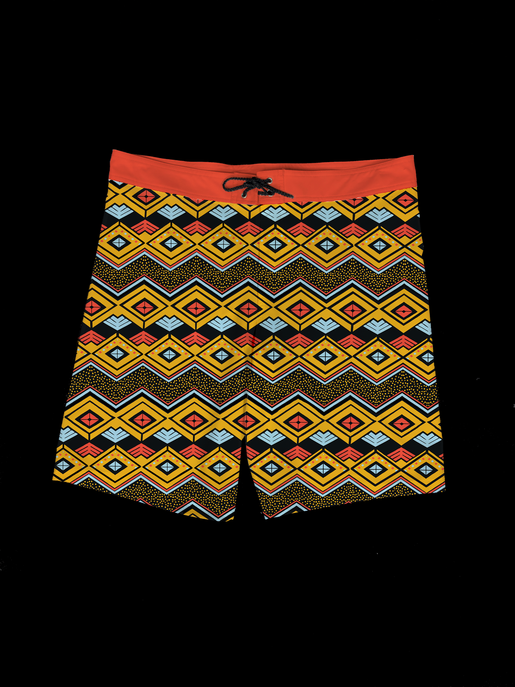 ZigZag Tribal (Red) Men's Boardshort