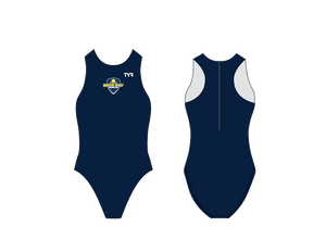 Back Bay Water Polo 2019 Custom Navy TYR Women's Breakaway Water Polo Suit