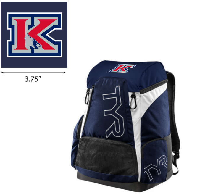 MLK Water Polo Navy TYR Alliance Backpack