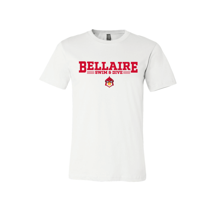 Bellaire Swim and Dive White Cotton Unisex T-Shirt