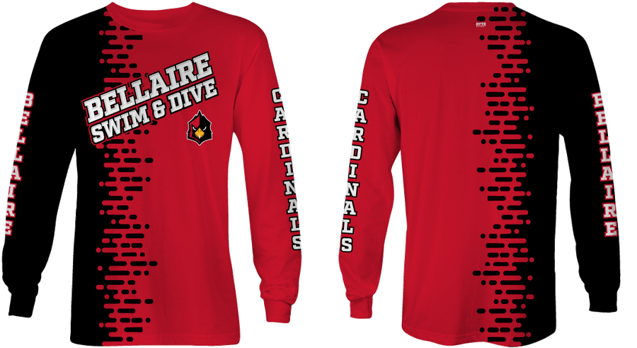 Bellaire Swim and Dive 2020 Custom Long Sleeve Birdseye Dry Fit T-Shirt - Personalized