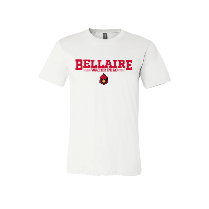Bellaire Water Polo White Cotton Unisex T-Shirt