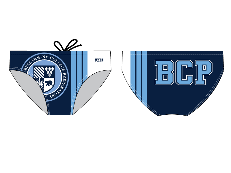 Bellarmine High School Water Polo Custom Men's Swim & Water Polo Brief