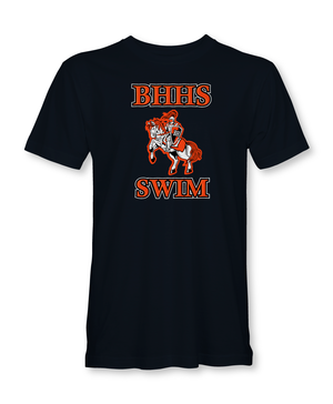 Beverly Hills High School 2019 Swim Team Adult Men's Black T-Shirt