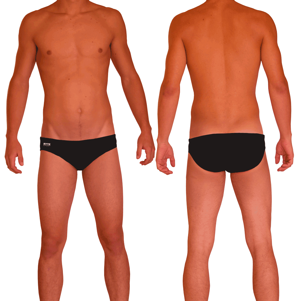 Solid Color Men's Swim & Water Polo Brief