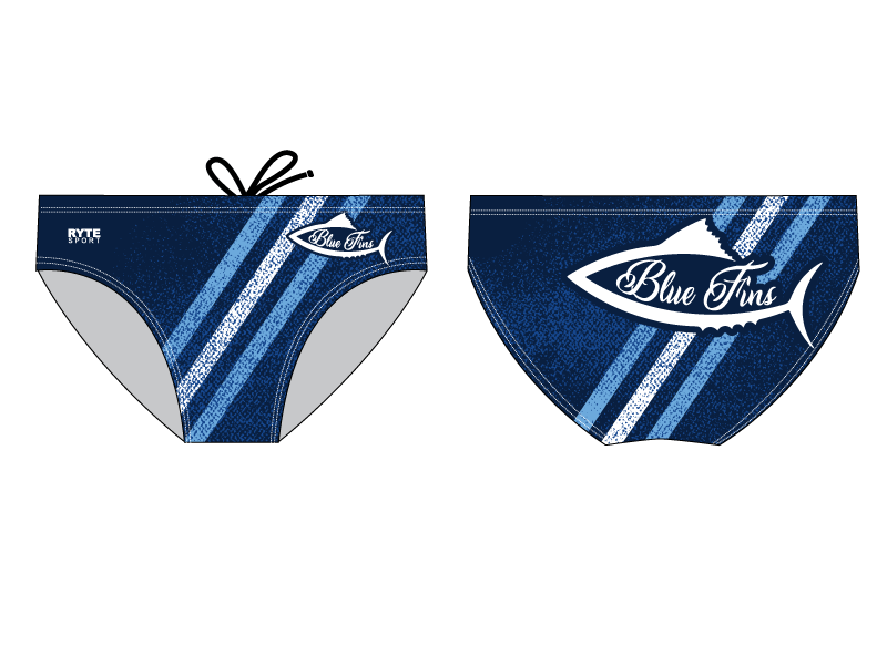 Blue Fins Swim Team 2019 Custom Men's Swim Brief