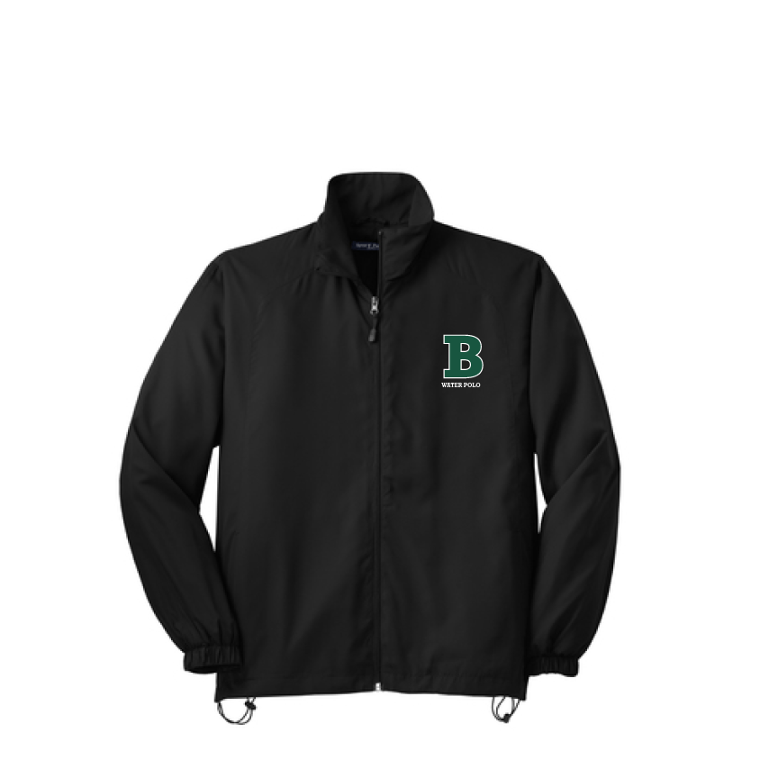 Bonita High School Water Polo 2019 Custom Black Full-Zip Wind Jacket *CLOSE DATE TO PURCHASE IS 11/20*