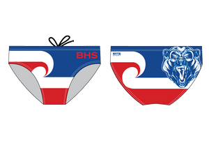 Buchanan High School Custom Men's Swim & Water Polo Brief - Personalized