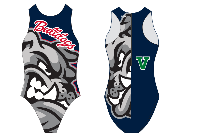 Bulldogs Special Print Custom Women's Water Polo Suit