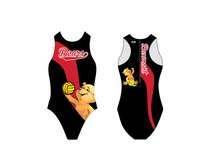 Buxmont Water Polo Club Girl's Water Polo Suit - Personalized