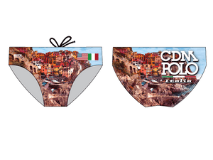 CDM Water Polo Italy Trip 2019 Custom Men's Water Polo Brief